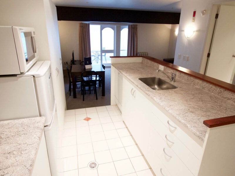 Kitchen + Lounge - Willis Village 2 Bedroom Apartment