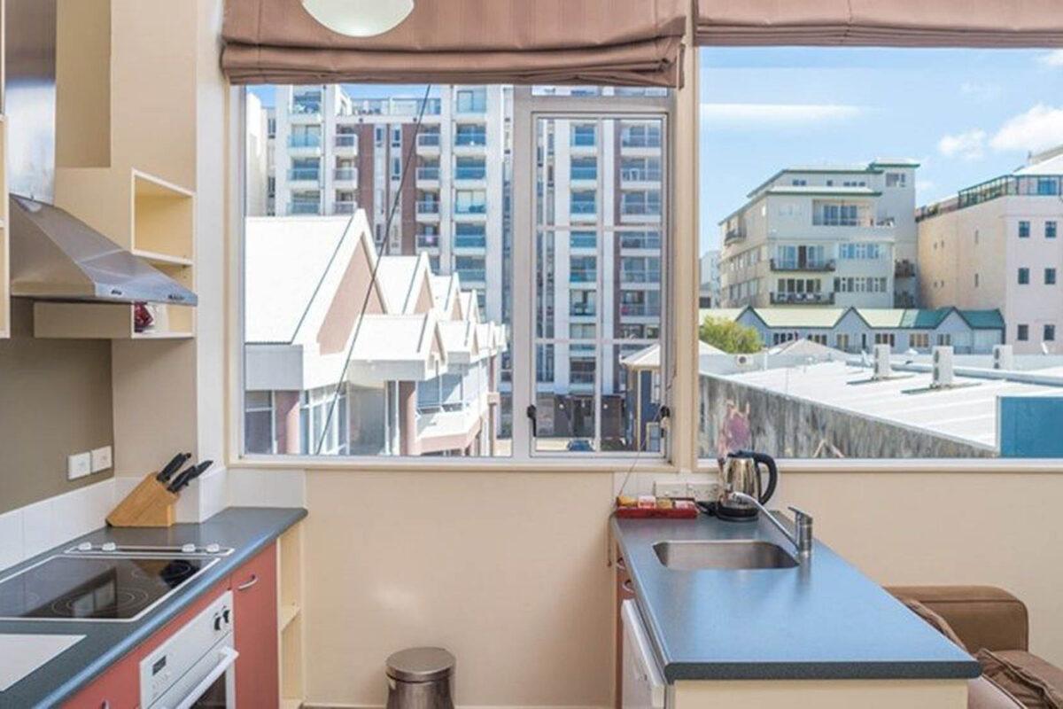 Kitchen + View - Courtenay Village 2 Bedroom Apartment
